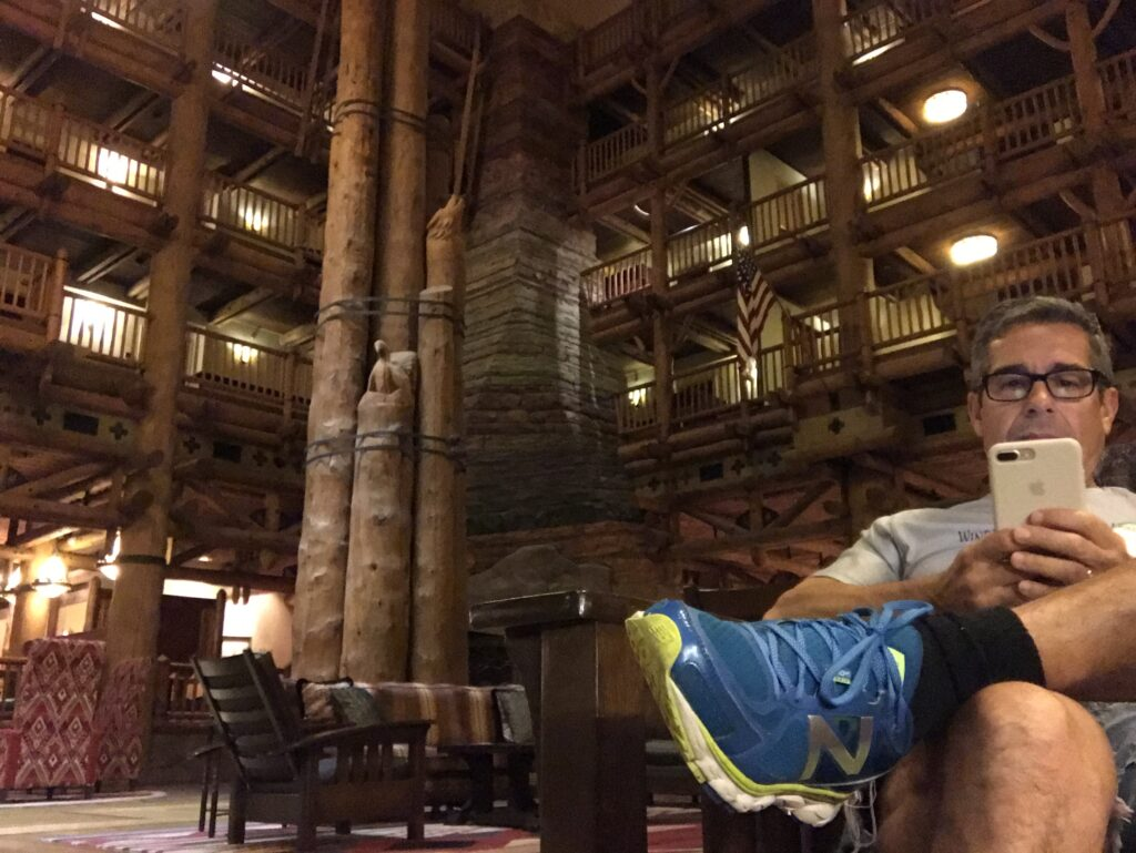 Disney author Jeff Noel writing at wilderness Lodge