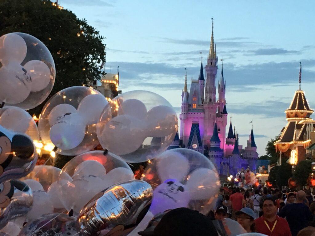 Walt Disney World at dusk