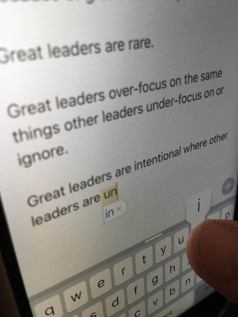 iPhone notes app note