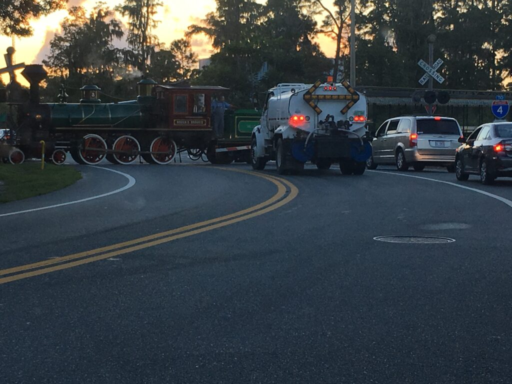 Walt Disney World Train crossing road