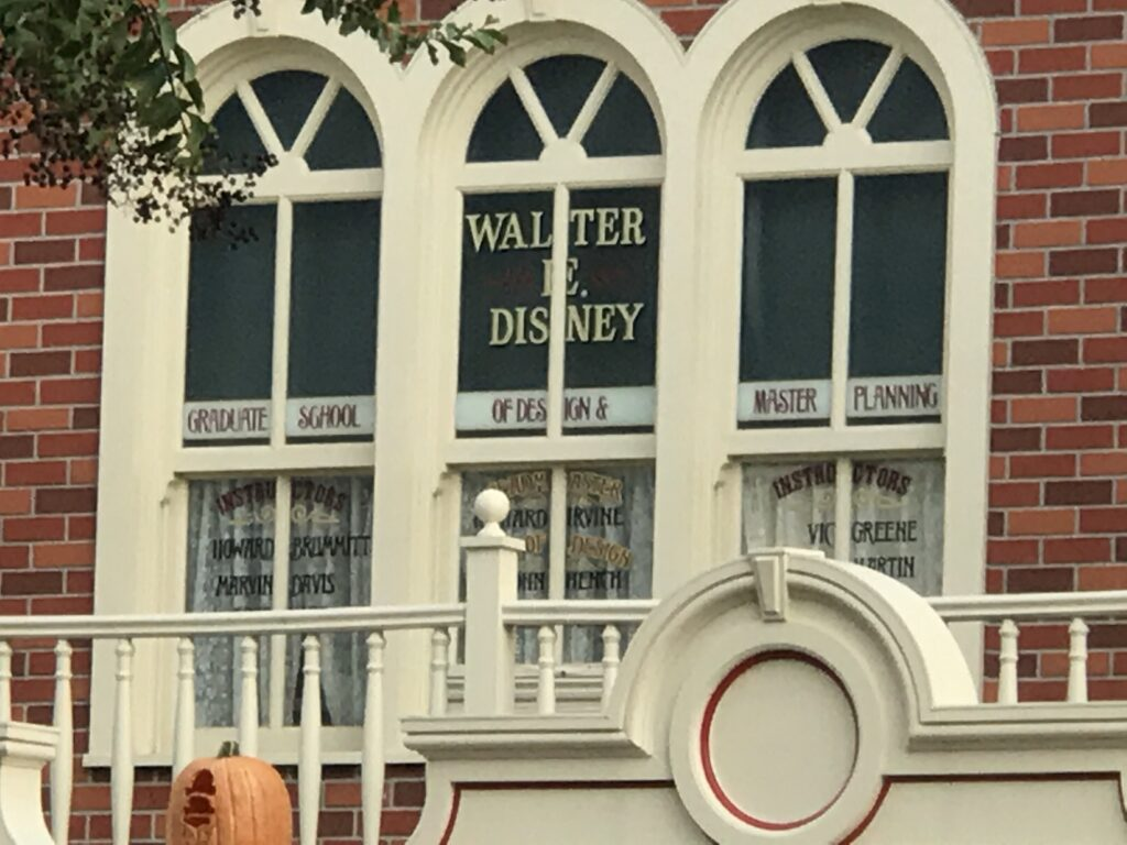 Walt Disney's Main Street window