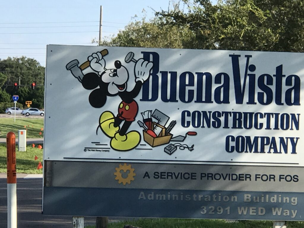 Buena Vista Construction sign