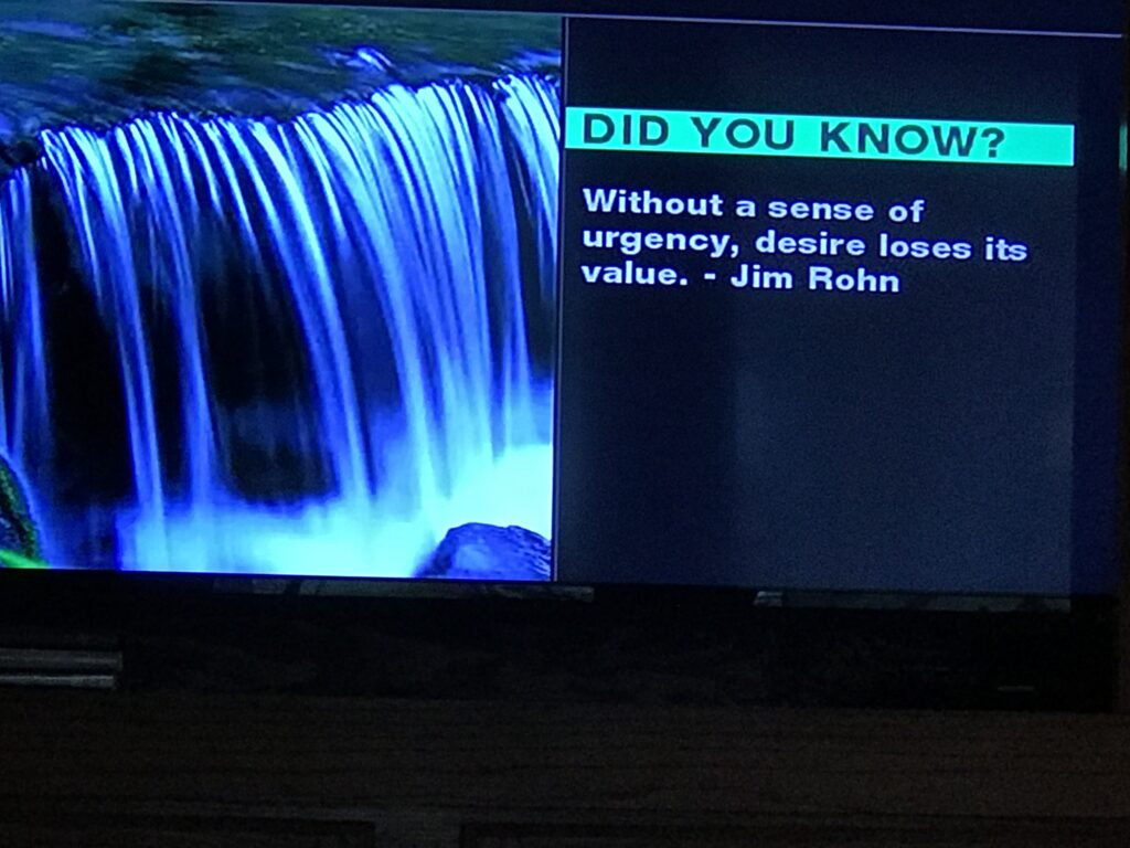 Quote from TV screen saver