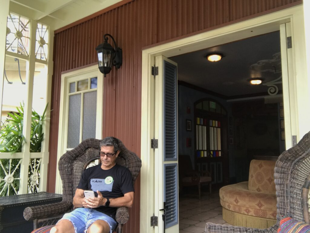 Disney author Jeff Noel in Adventureland