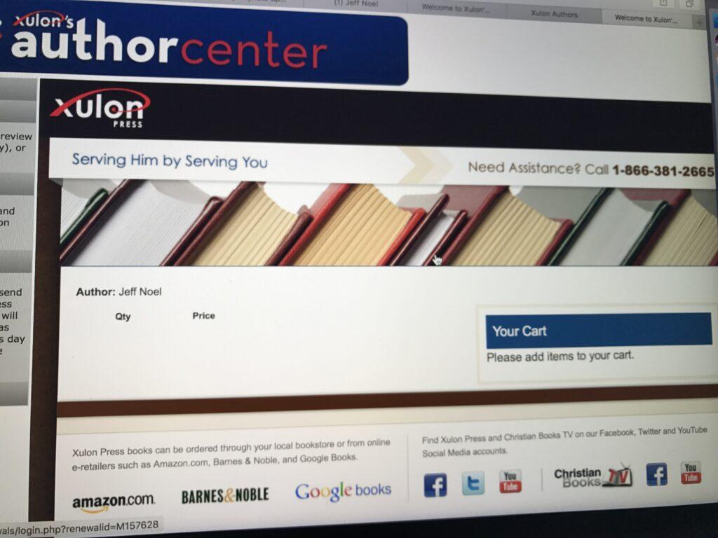 Xulon Press admin screen