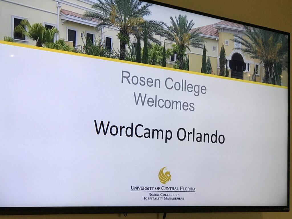 WordCamp Orlando signage