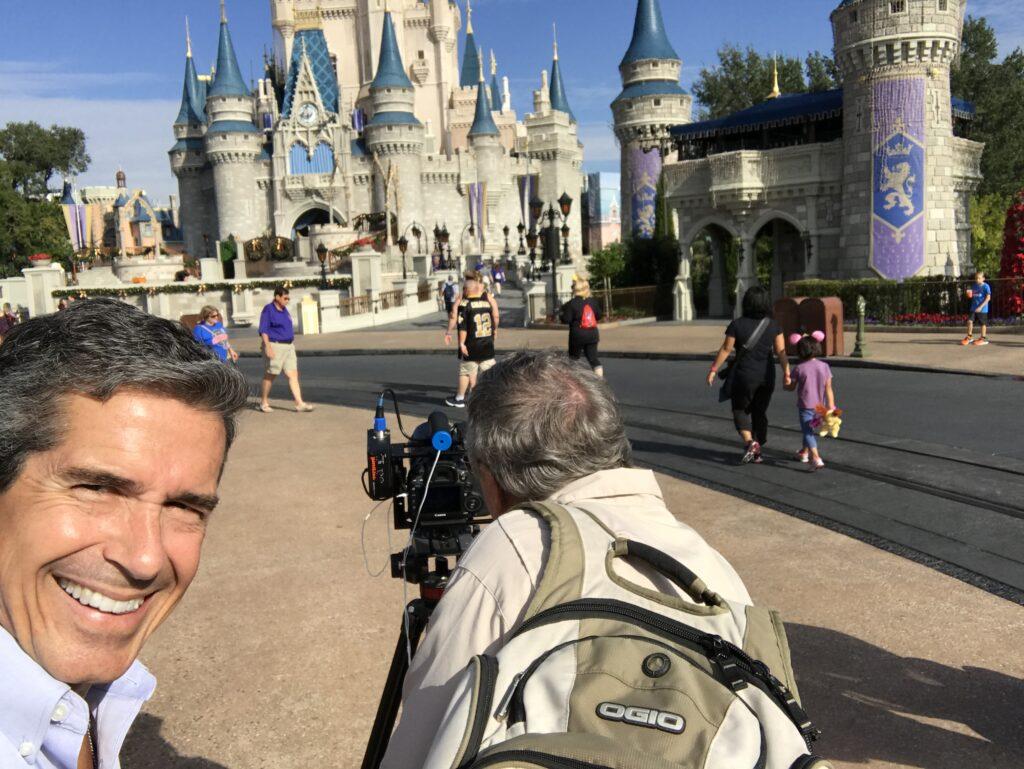 Two men by Cinderella Castle