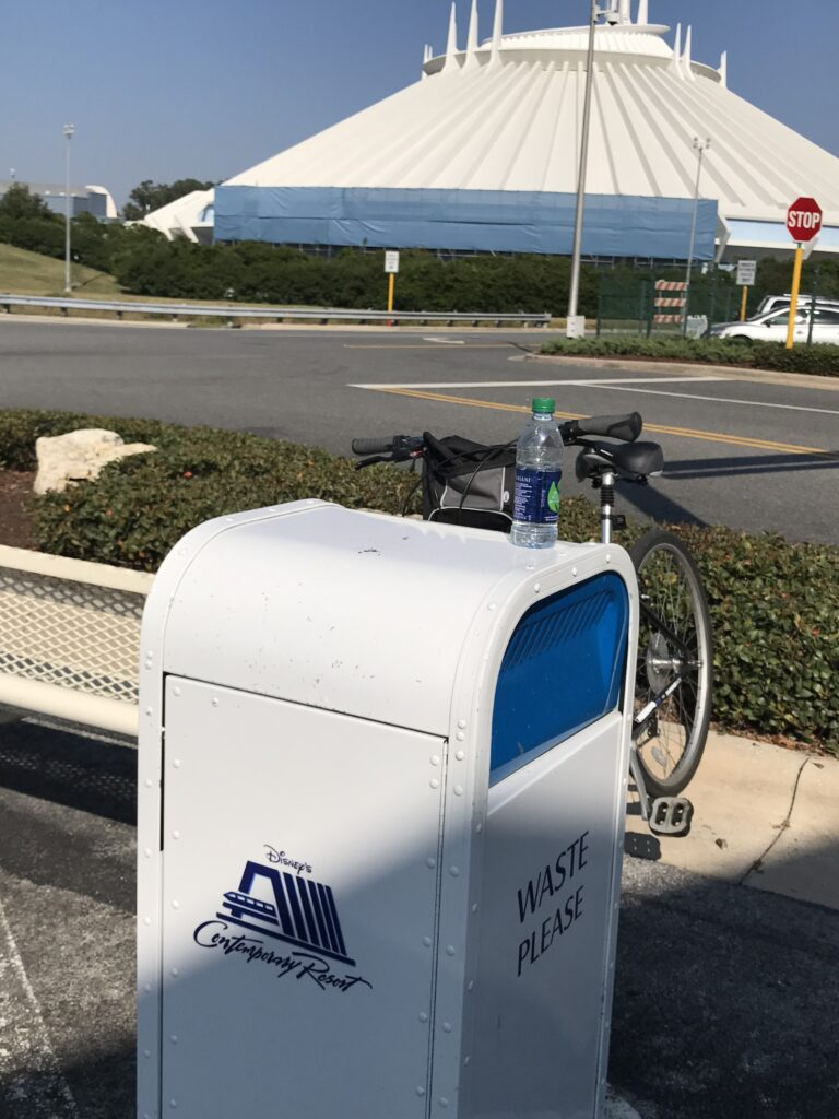 bicycle parked near Space Mountain