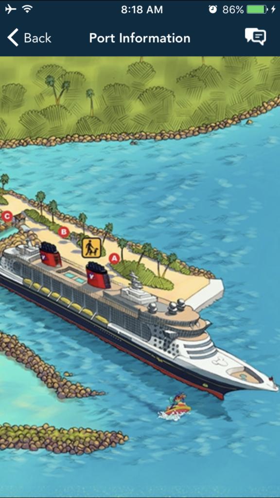 animated Disney Cruise harbor