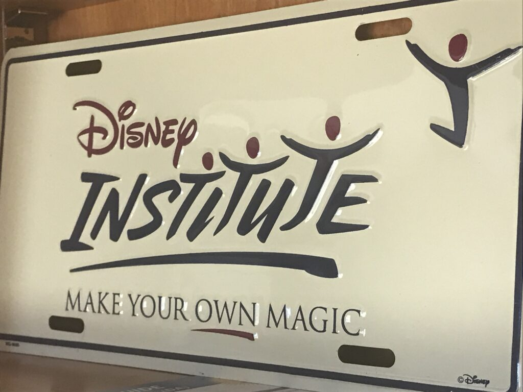 Disney Institute license plate